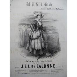 DE CALONNE J. C. L. Nisida Piano 1853