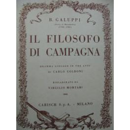 GALUPPI Baldassare Il Filosofo di Campagna Opéra Chant Piano 1928