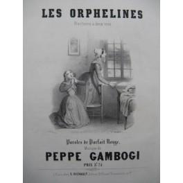 GAMBOGI Peppe Les Orphelines Chant Piano 1846