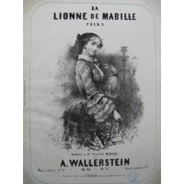 WALLERSTEIN A. La Lionne de Mabille Piano ca1850