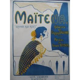 D'AGUERRE Georges Maïtena Chant Piano 1921