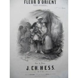 HESS J. Ch. Fleur d'Orient Polka-Mazurka Piano ca1855