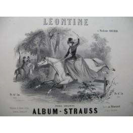 STRAUSS Léontine Polka Amazone Piano ca1850