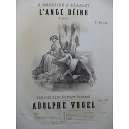 VOGEL Adolphe L'Ange Déchu Nanteuil Chant Piano ca1830