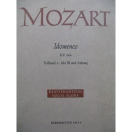 MOZART W. A. Idomeneo 2e partie Opéra Chant Piano 1973