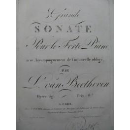 BEETHOVEN Grande Sonate op 59 Piano Violoncelle 1814