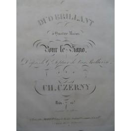 BEETHOVEN CZERNY Grand Septuor Piano 4 mains ca1829