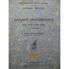BRAHMS Johannes Danses Hongroises 2e Cahier Piano 1937