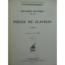COUPERIN François Pièces de Clavecin Livre I et II Clavecin