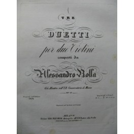 ROLLA Alessandro 6 Duos pour 2 Violons ca1835