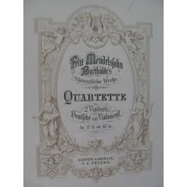 MENDELSSOHN SCHUBERT Quartette Quatuors Violon Alto Violoncelle XIXe
