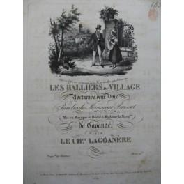LAGOANERE Les Halliers du Village Piano Chant ca1820