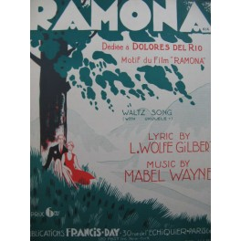 WAYNE Mabel Ramona Chant Piano 1928