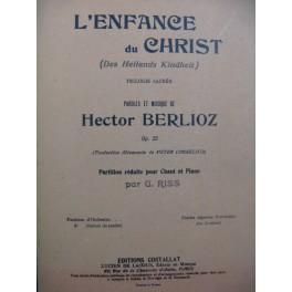 BERLIOZ Hector L'Enfance du Christ Chant Piano 1947