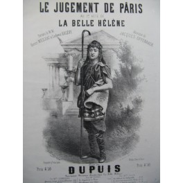 OFFENBACH Jacques Le Jugement de Pâris Chant Piano 1865