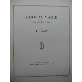 LAMY Fernand Choral Varié Piano Trombone 1949