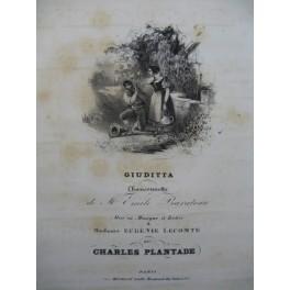 PLANTADE Charles Giuditta Chant Piano ca1830