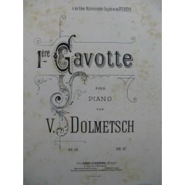 DOLMETSCH V. 1ère Gavotte Piano XIXe siècle