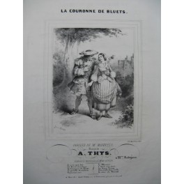 THYS A. La Couronne de Bluets Chant Piano ca1840