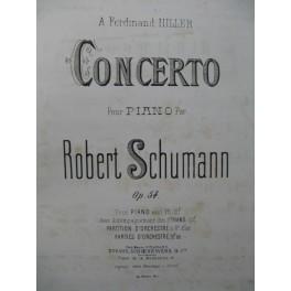 SCHUMANN Robert Concerto Allegro Appassionato Andant 2 Pianos 4 mains ca1870