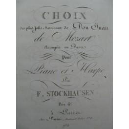 STOCKHAUSEN F. Choix de Morceaux Don Juan Mozart Harpe ca1810