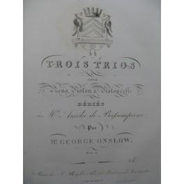 ONSLOW Georges Trios Piano Violon ca1820