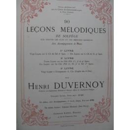 DUVERNOY Henri 90 Leçons Mélodiques de Solfège 1883