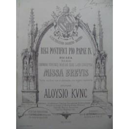 KUNC Aloysio Missa Brevis Chant Orgue 1861