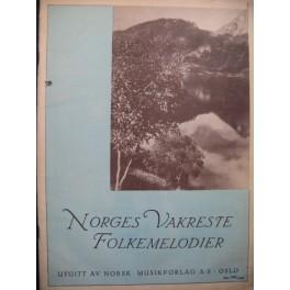 Norges Vakreste Folkemelodier 60 pièces Chant Piano