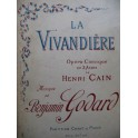 GODARD Benjamin La Vivandière Opéra Piano Chant 1926