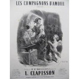CLAPISSON Louis Les Compagnons d'Amour Nanteuil Chant Piano ca1840