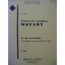 MOZART W. A. Il Re Pastore Opéra Orchestre