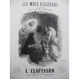CLAPISSON Louis Les Mois Visiteurs Nanteuil Chant Piano 1859