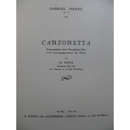 PIERNÉ Gabriel Canzonetta Piano Saxophone1936