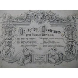 Collection d'Ouvertures Opéra Piano 4 mains XIXe