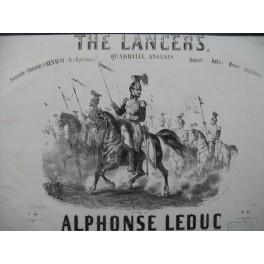 LEDUC Alphonse The Lancers Quadrille Danse Piano ca1853