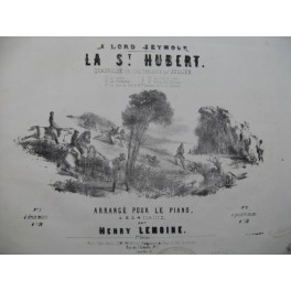 JULLIEN La St Hubert Quadrille Piano 4 mains ca1850