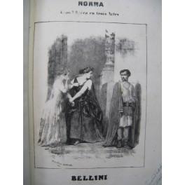 BELLINI Vincenzo Norma Nanteuil Opera Piano Chant ca1850