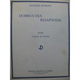DUMONT Jacques Dobroudja Rhapsodie Violon Piano 1963