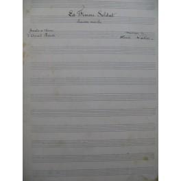 VATIN Henri La Femme Soldat Manuscrit Chant Piano 1908