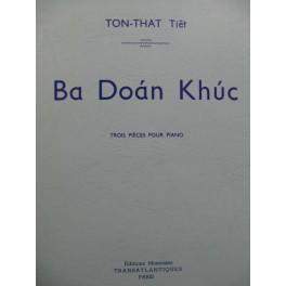 TON-THAT Tiêt Ba Doàn Khuc 3 Pièces pour Piano 1969