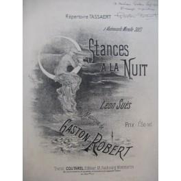ROBERT Gaston Stances à la Nuit Dédicace Chant Piano