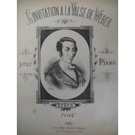 WEBER Carl Maria von Invitation à la valse piano