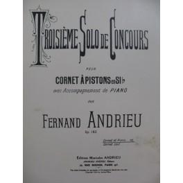 ANDRIEU Fernand Solo de Concours No 3 Cornet à Pistions Piano 1924