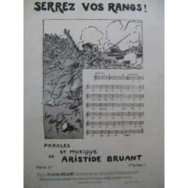 BRUANT Aristide Serrez Vos Rangs Chant Piano