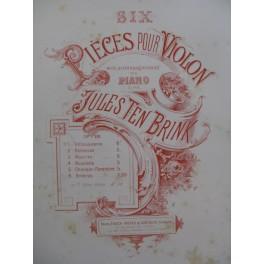TEN BRINK Jules Chanson Florentine Violon Piano ca1886