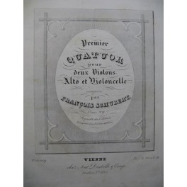 SCHUBERT LACHNER RAFF Quatuors Violon Alto Violoncelle ca1860