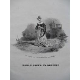 LHUILLIER Edmond Monseigneur L'a Défendu Chant Piano ca1830