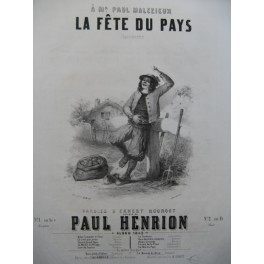 HENRION Paul La Fête du Pays Chant Piano 1849