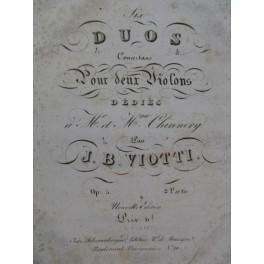 VIOTTI J. B. Six Duos op 5 2e Partie pour deux Violons ca1830